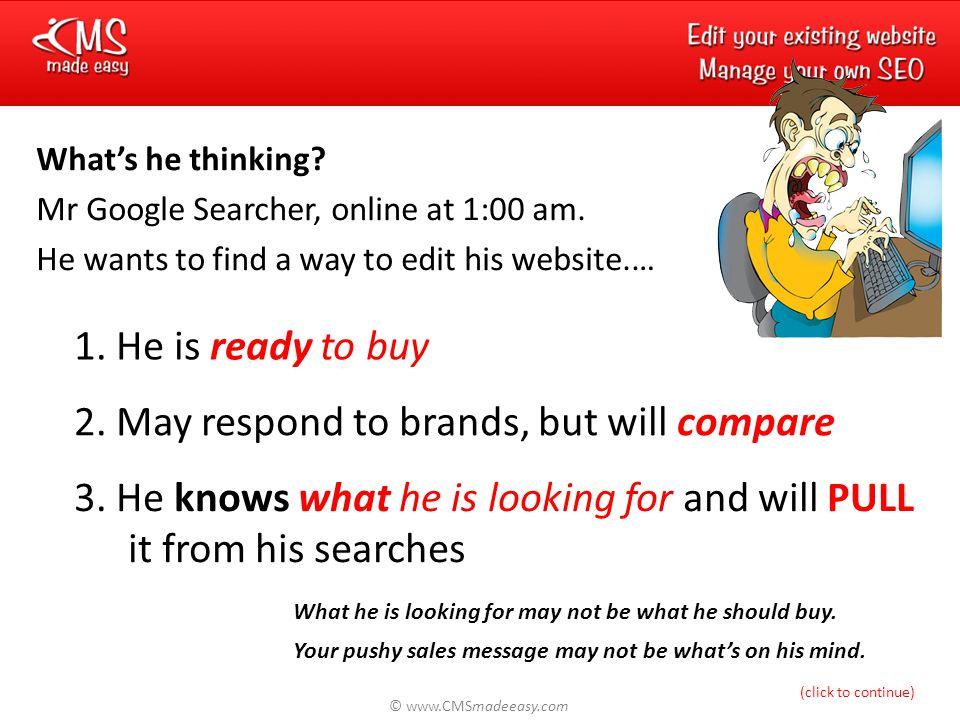 © www.CMSmadeeasy.com Google Page 1.What's it worth.
