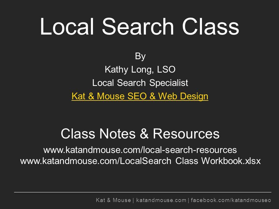 Kat & Mouse | katandmouse.com | facebook.com/katandmouseo Why be online.