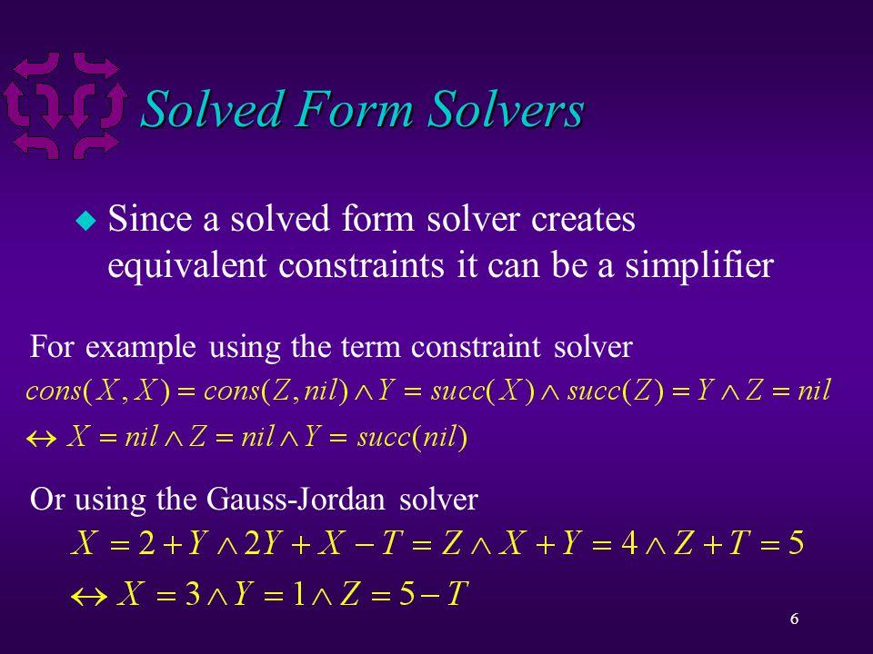 17 Optimization u Some optimization problems have no solution.