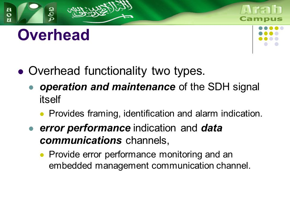 Overhead Overhead functionality two types.