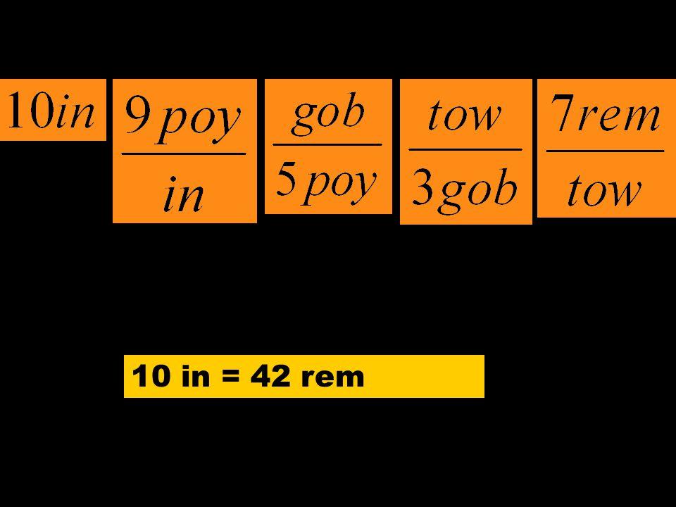 10 in = 42 rem