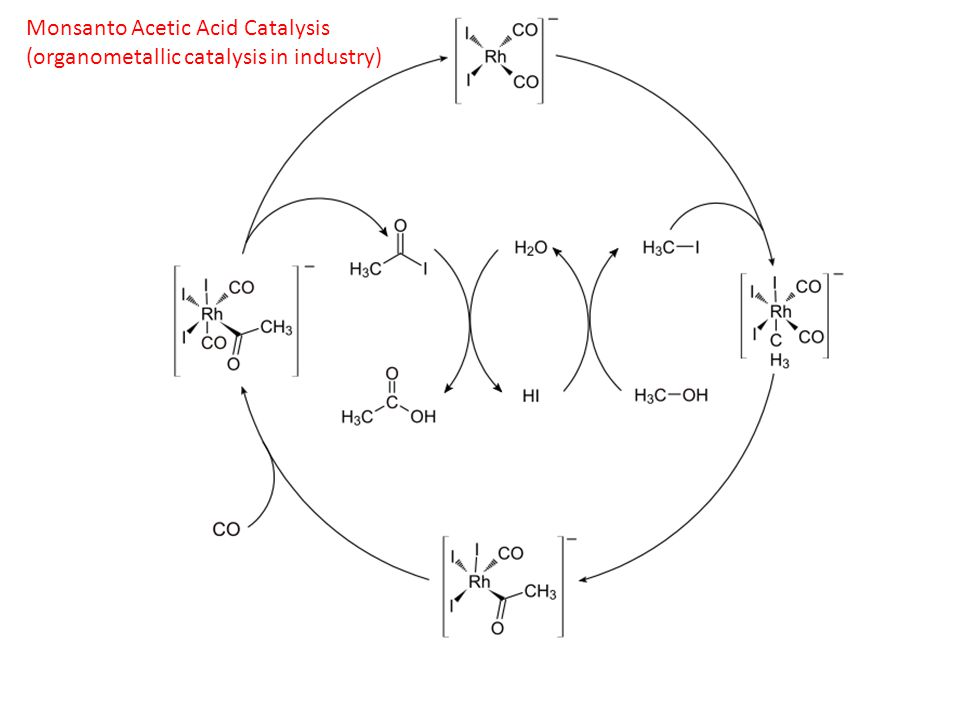 Monsanto Acetic Acid Catalysis (organometallic catalysis in industry)