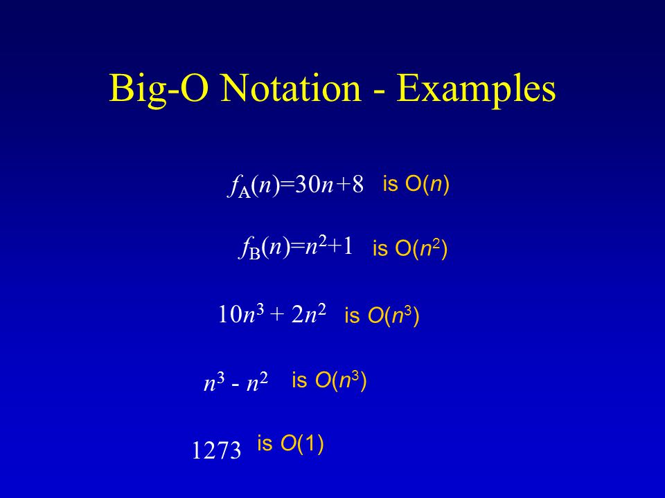 Asymptotic Notation  notation:  notation: asymptotic equality : f(n)=  (g(n)) implies: f(n) = c g(n) in the limit * (provides a tight bound of running time) (best and worst cases are same) * formal definition in CS477/677 c is a constant