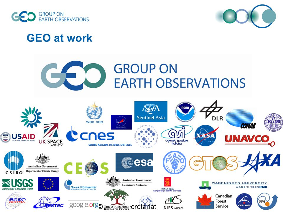 © GEO Secretariat GEO at work