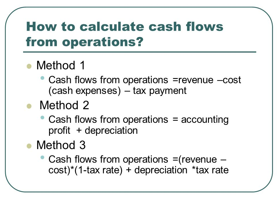 How to calculate cash flows from operations.
