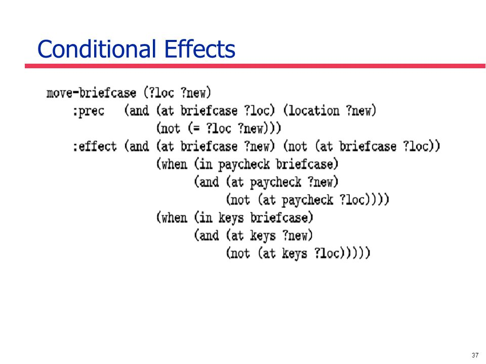 37 Conditional Effects