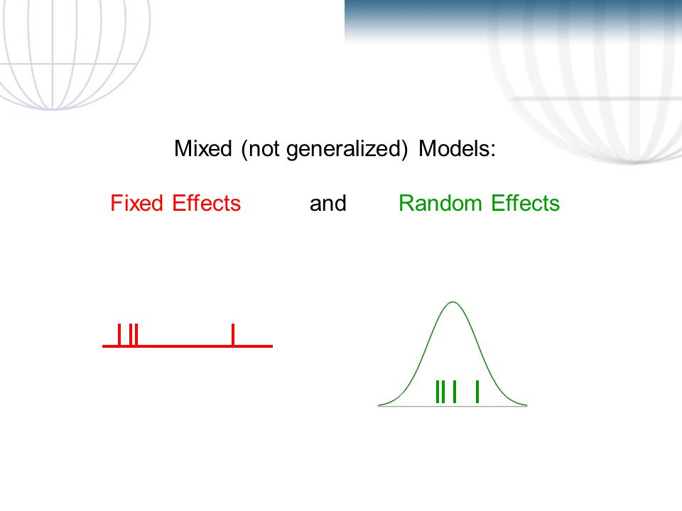 D.A.D. Mixed (not generalized) Models: Fixed Effects and Random Effects