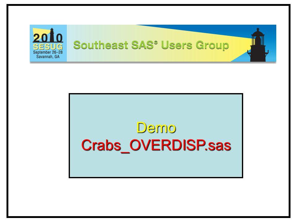 DemoCrabs_OVERDISP.sas