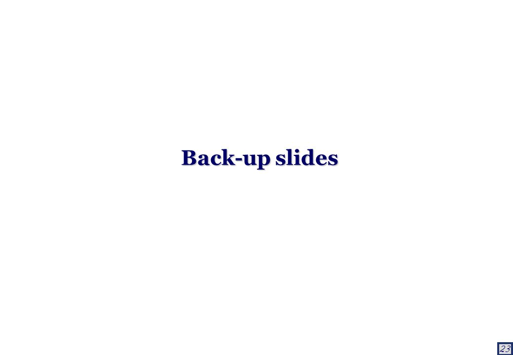 23 Back-up slides