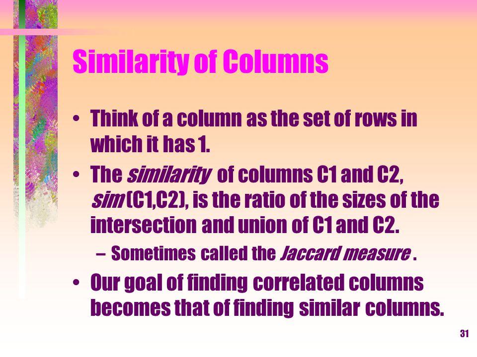 32 Example C1C2 01 10 11sim (C1, C2) = 002/5 = 0.41 01