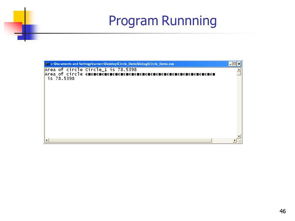 46 Program Runnning