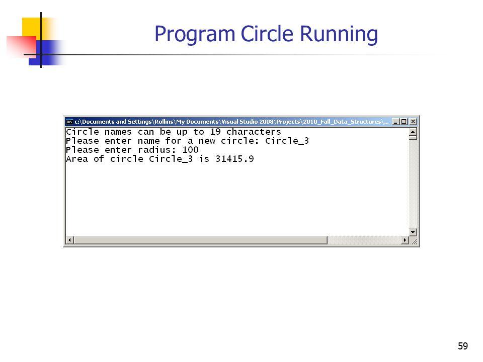 59 Program Circle Running