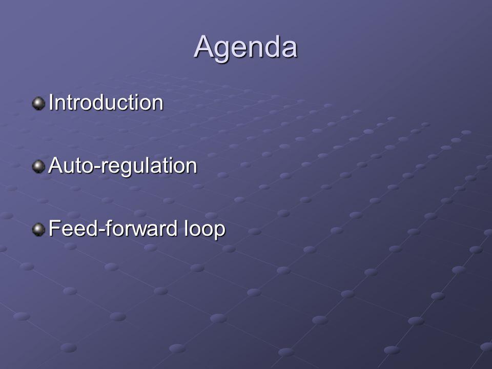 Agenda IntroductionAuto-regulation Feed-forward loop