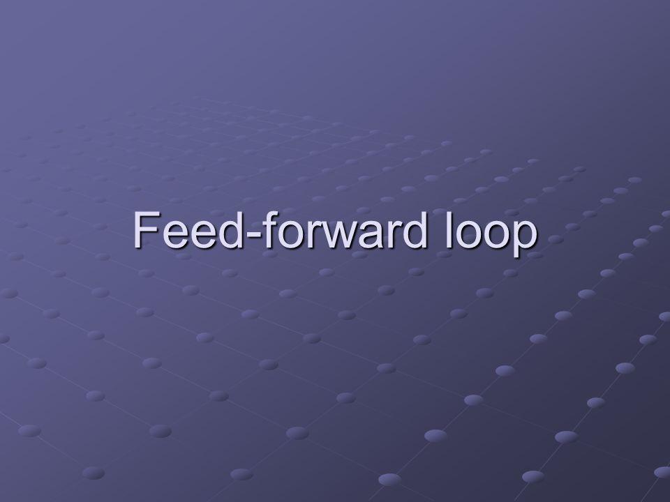 Feed-forward loop