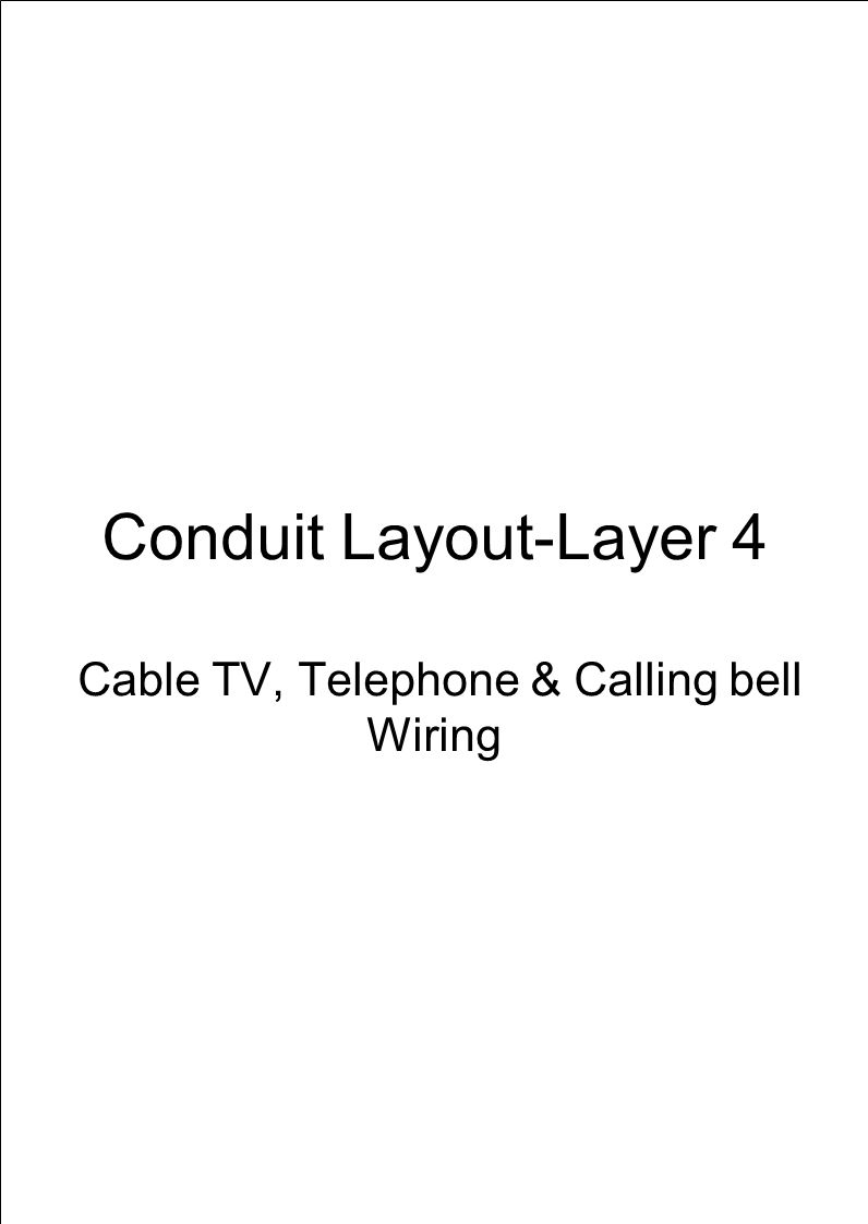 Conduit Layout-Layer 5 MDB-SDB Connection & Wiring for Surge Arrester 1x1 dia Riser Gr.