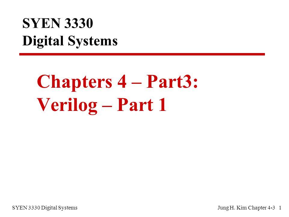 SYEN 3330 Digital SystemsJung H.