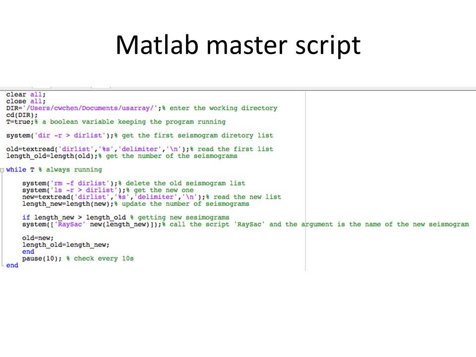 Matlab master script
