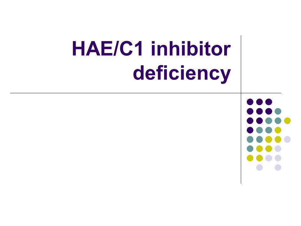 HAE/C1 inhibitor deficiency
