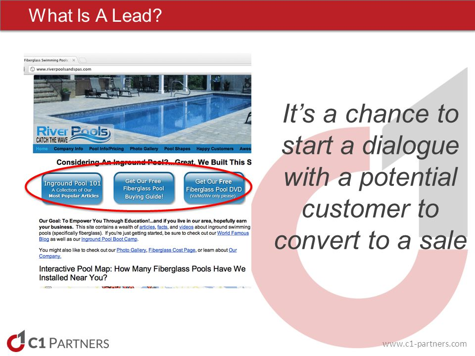 www.c1-partners.com What Is A Lead.
