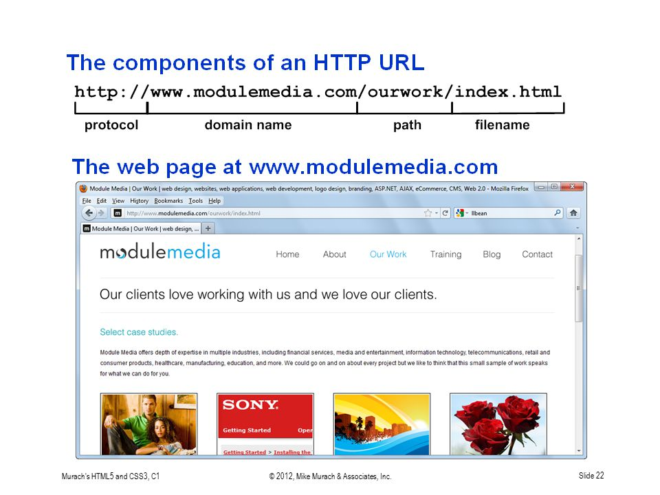 Murach's HTML5 and CSS3, C1© 2012, Mike Murach & Associates, Inc.Slide 22
