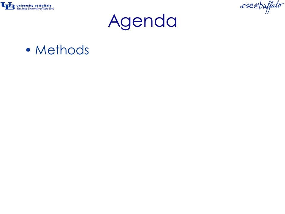 Agenda Methods