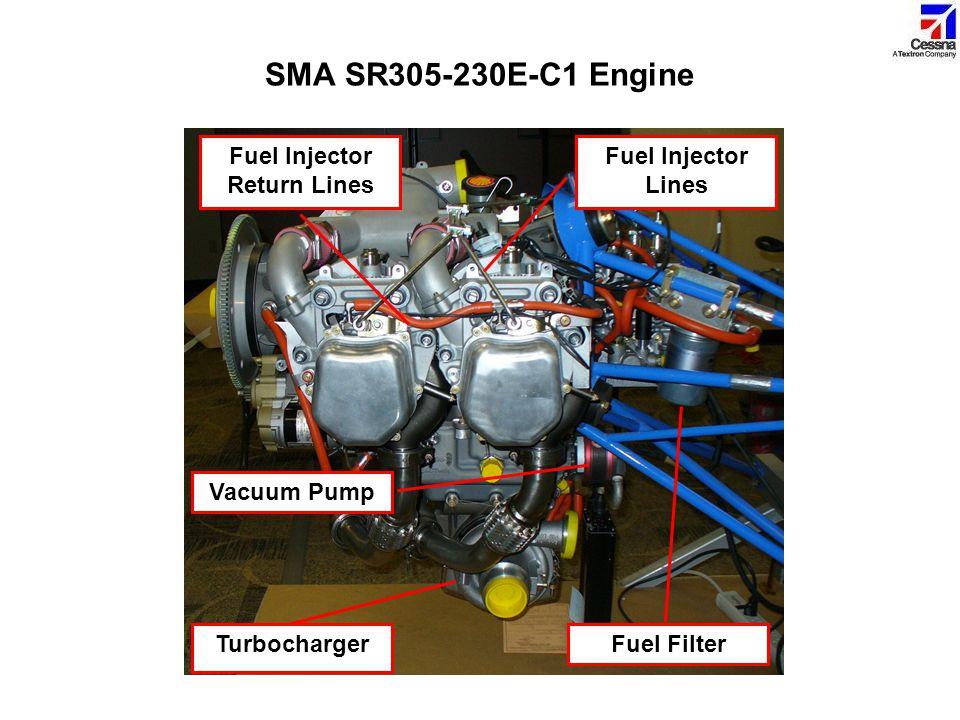 Fuel Injector Lines Turbocharger Fuel Filter Vacuum Pump Fuel Injector Return Lines SMA SR305-230E-C1 Engine