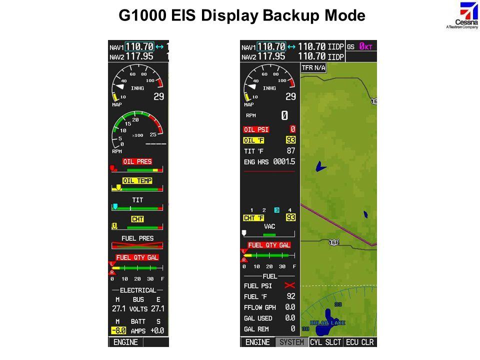 G1000 EIS Display Backup Mode