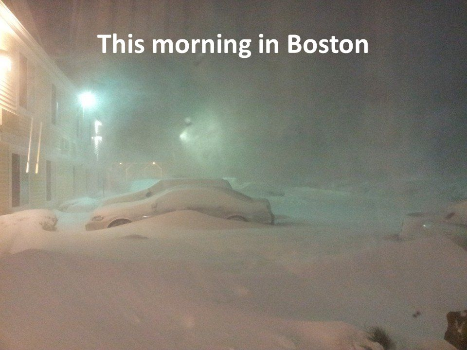 This morning in Boston
