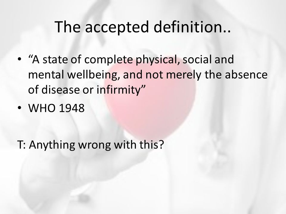 The accepted definition..