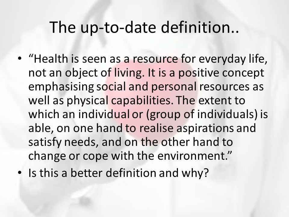 The up-to-date definition..