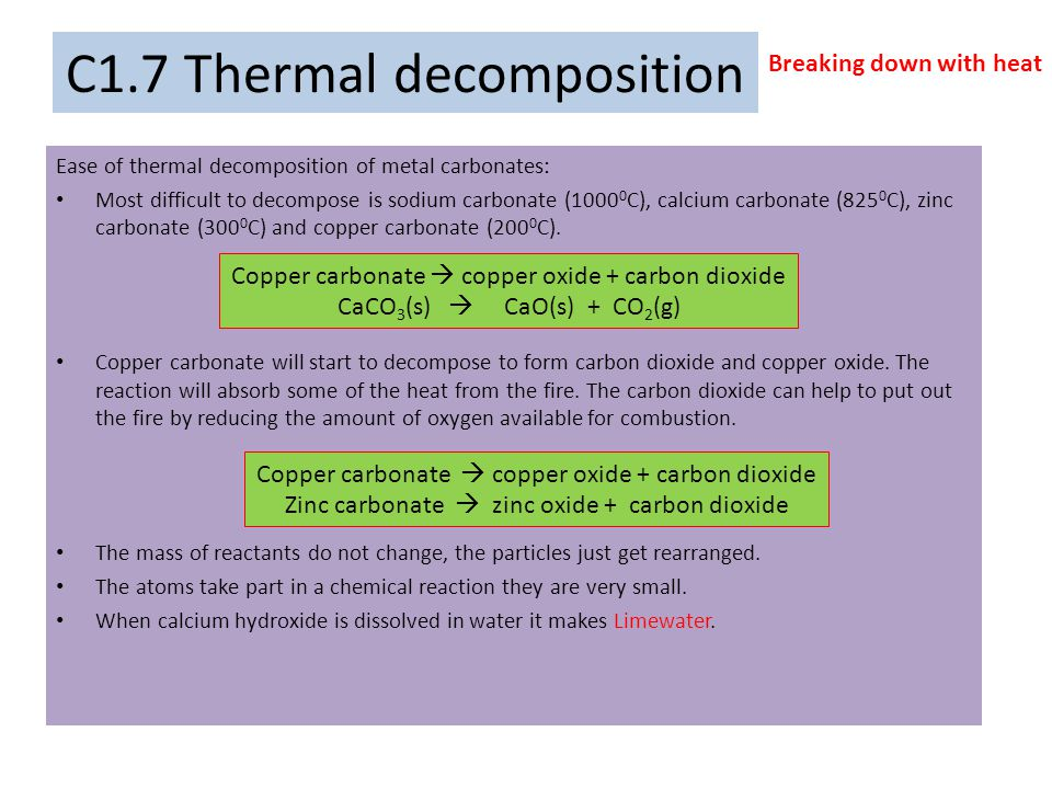 C1.8 Chemical reactions Word equations A word equation gives the names of the substances involved in a reaction.