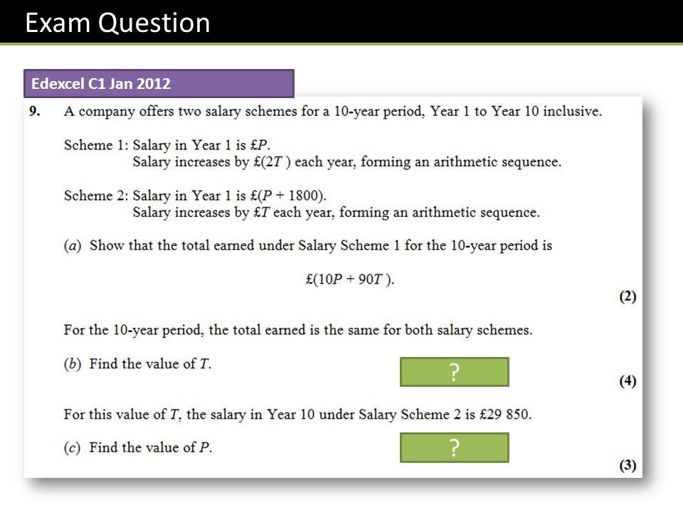 Edexcel C1 Jan 2012 Exam Question