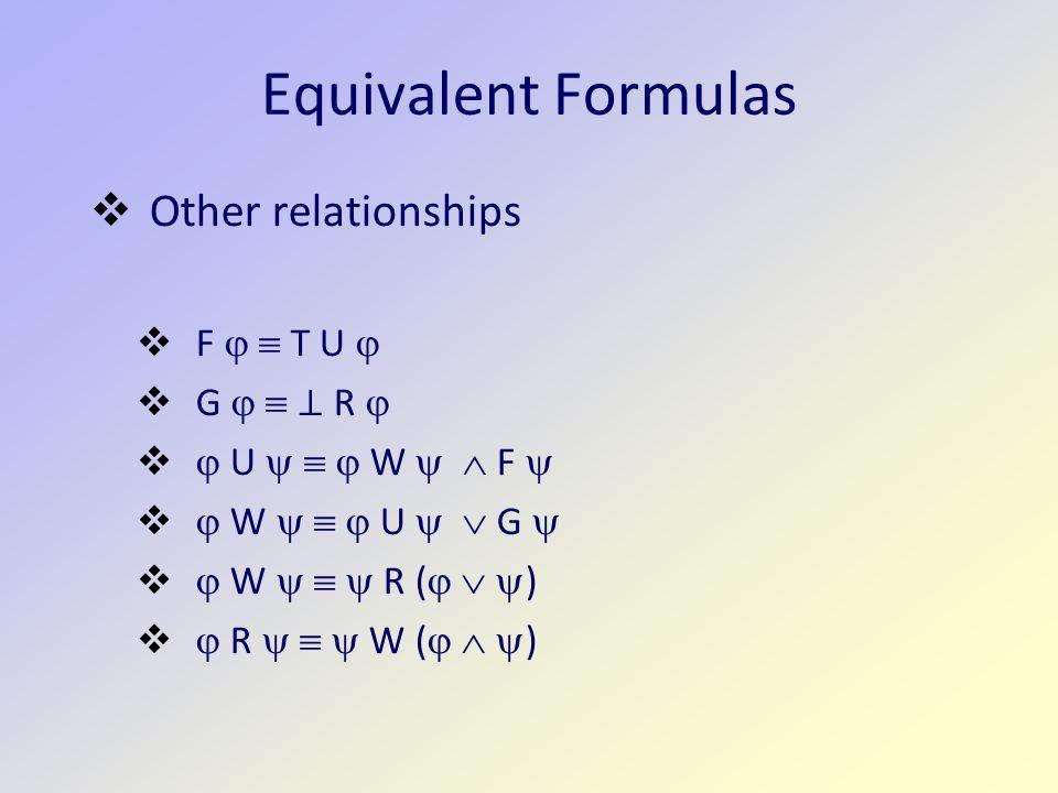 Equivalent Formulas