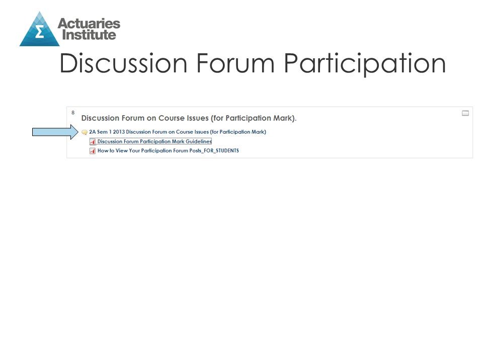 Discussion Forum Participation