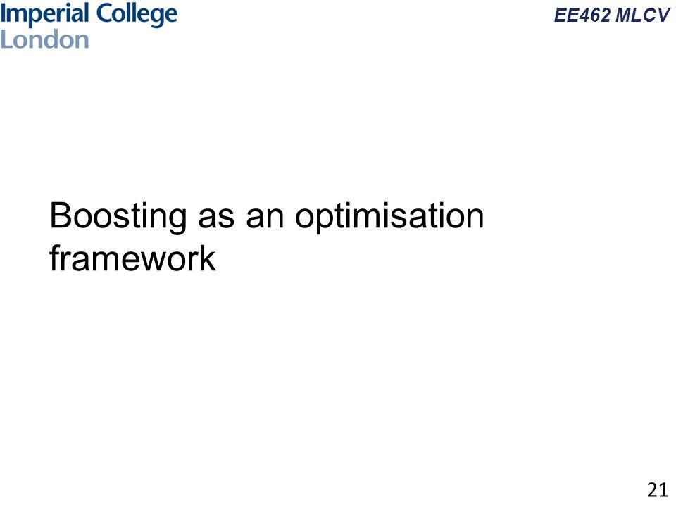 EE462 MLCV Boosting as an optimisation framework 21