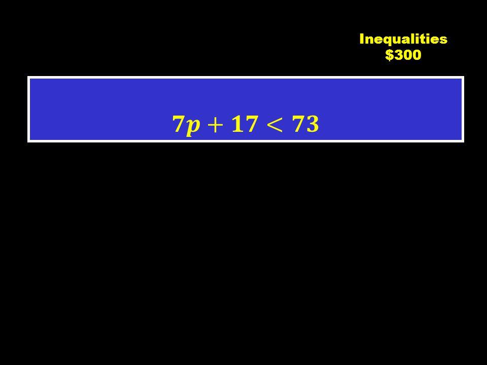 C3 $200 Inequalities $200