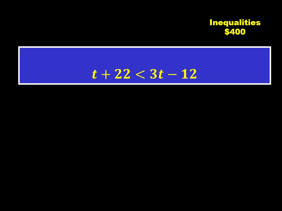 C3 $300 Inequalities $300
