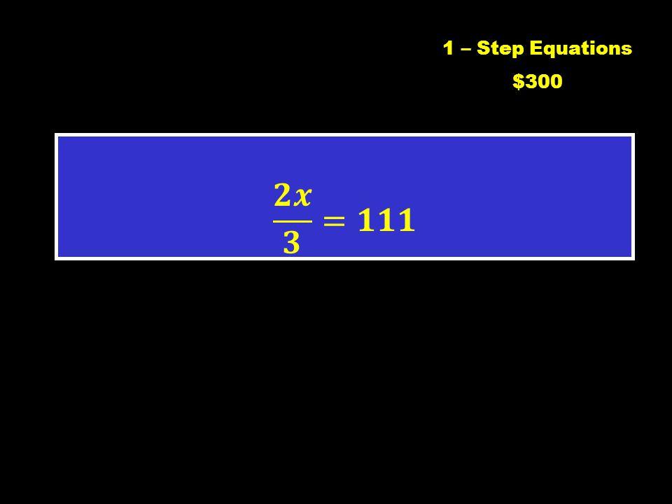 C1 $2001 – Step Equations $200