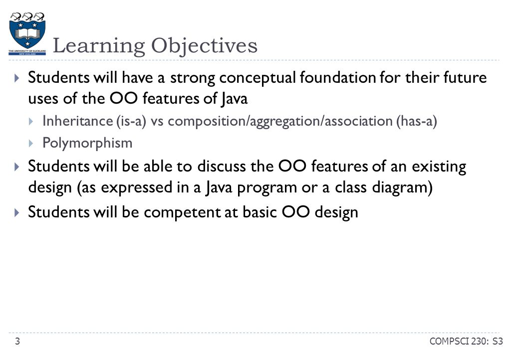 Abstraction COMPSCI 230: S34  An abstraction is a view or representation of an entity that includes only the attributes of significance in a particular context.