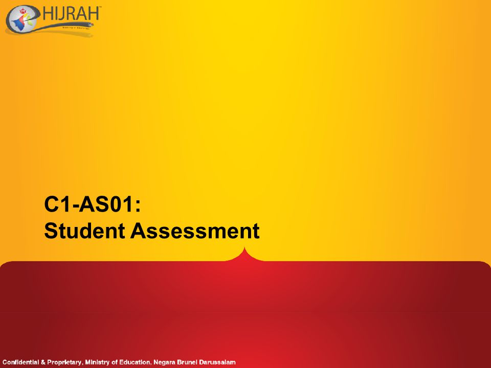 C1-AS01: Student Assessment