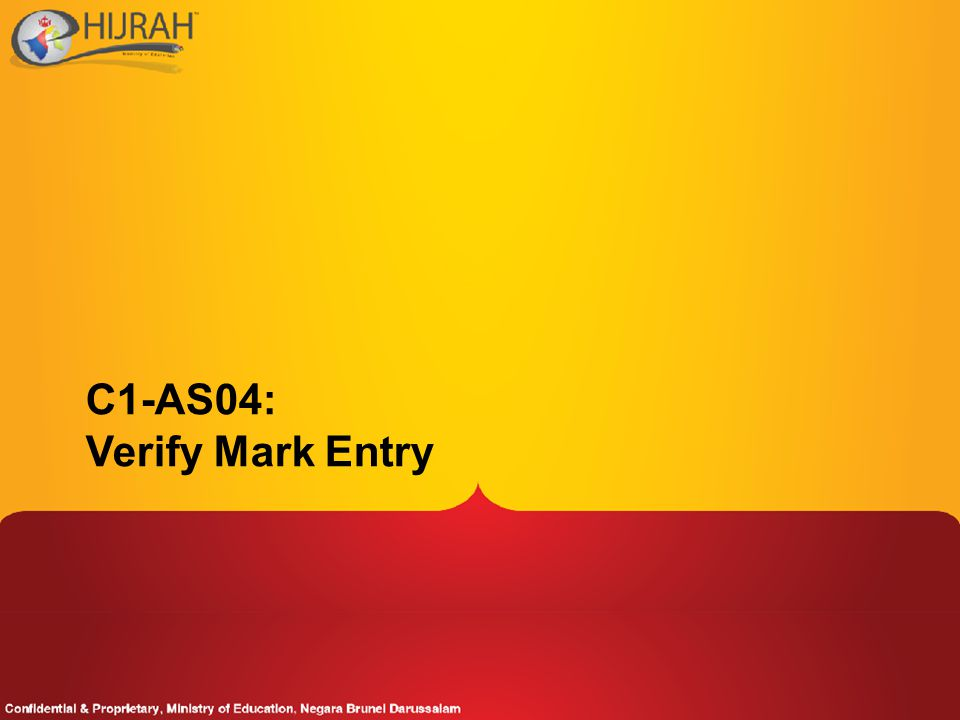 C1-AS04: Verify Mark Entry