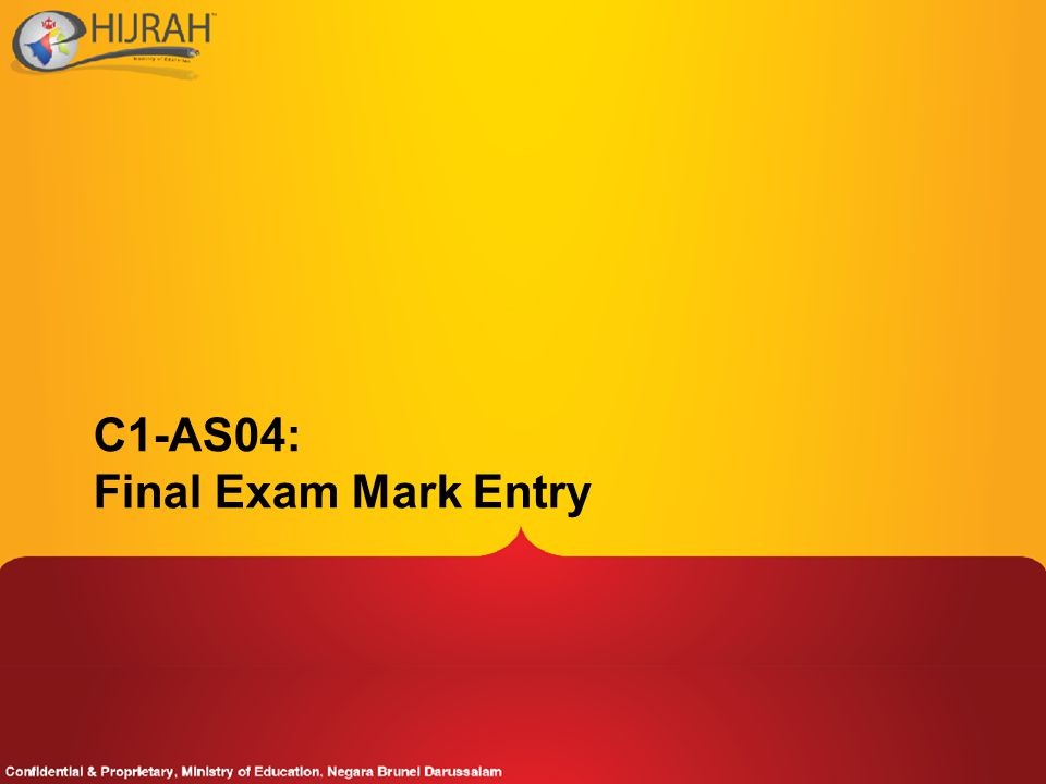 C1-AS04: Final Exam Mark Entry