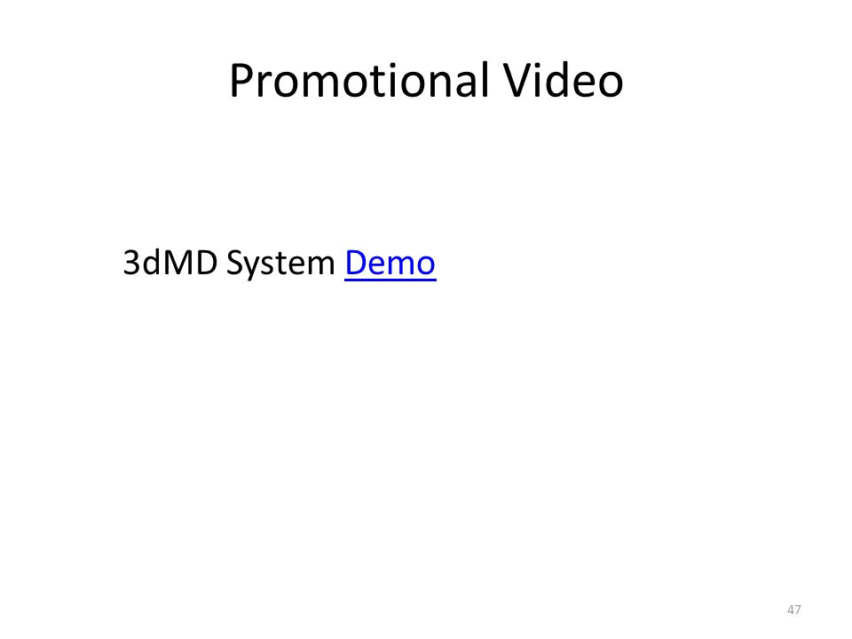Promotional Video 47 3dMD System DemoDemo