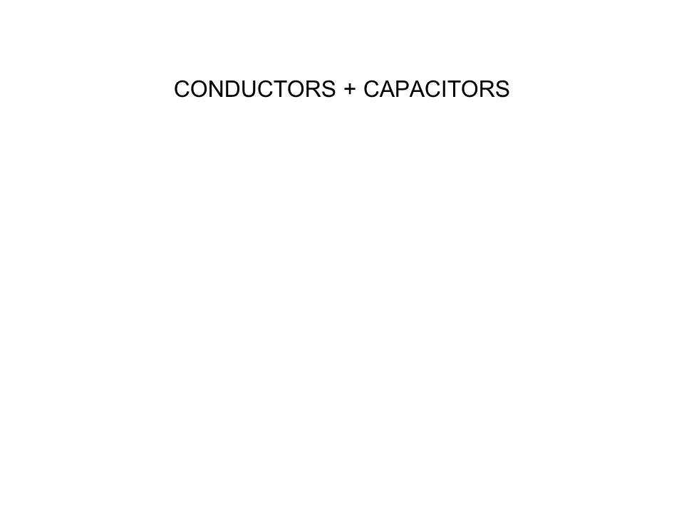 CONDUCTORS + CAPACITORS