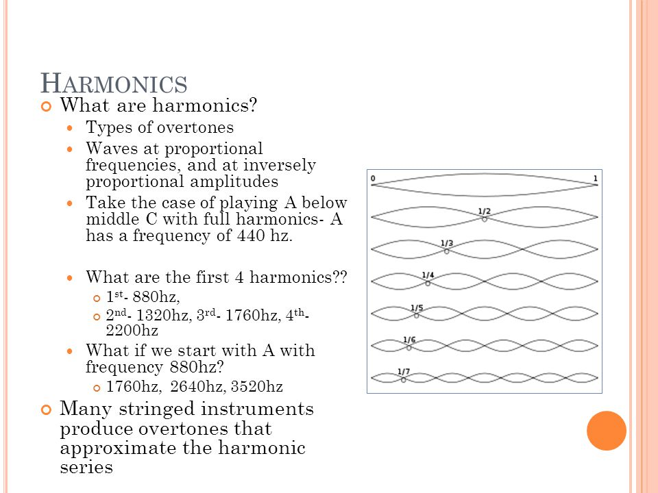 H ARMONICS What are harmonics.