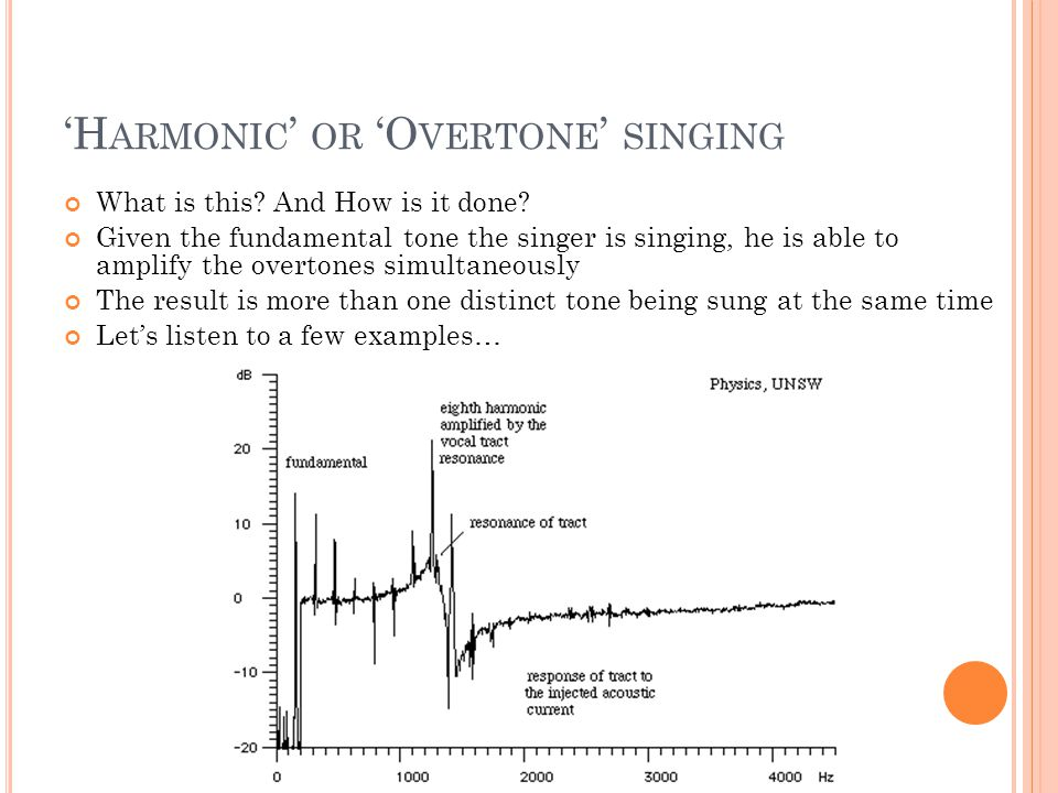 'H ARMONIC ' OR 'O VERTONE ' SINGING What is this.