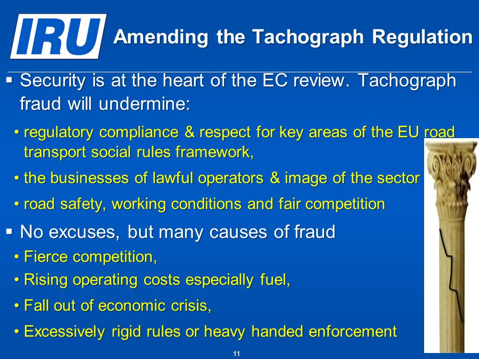 Amending the Tachograph Regulation  Security is at the heart of the EC review.