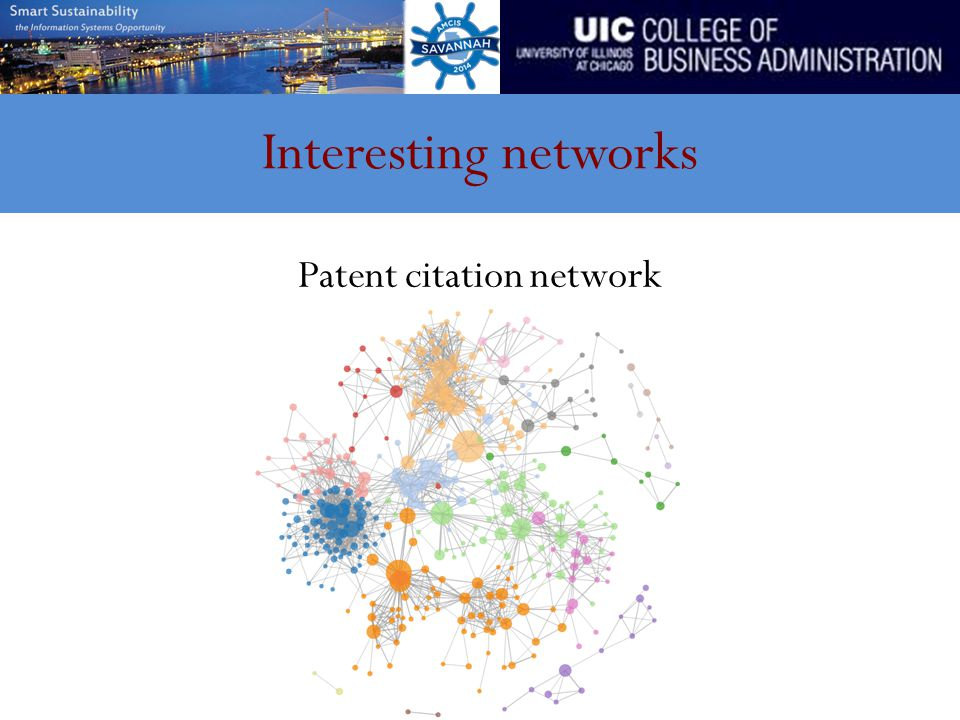Interesting networks Patent citation network