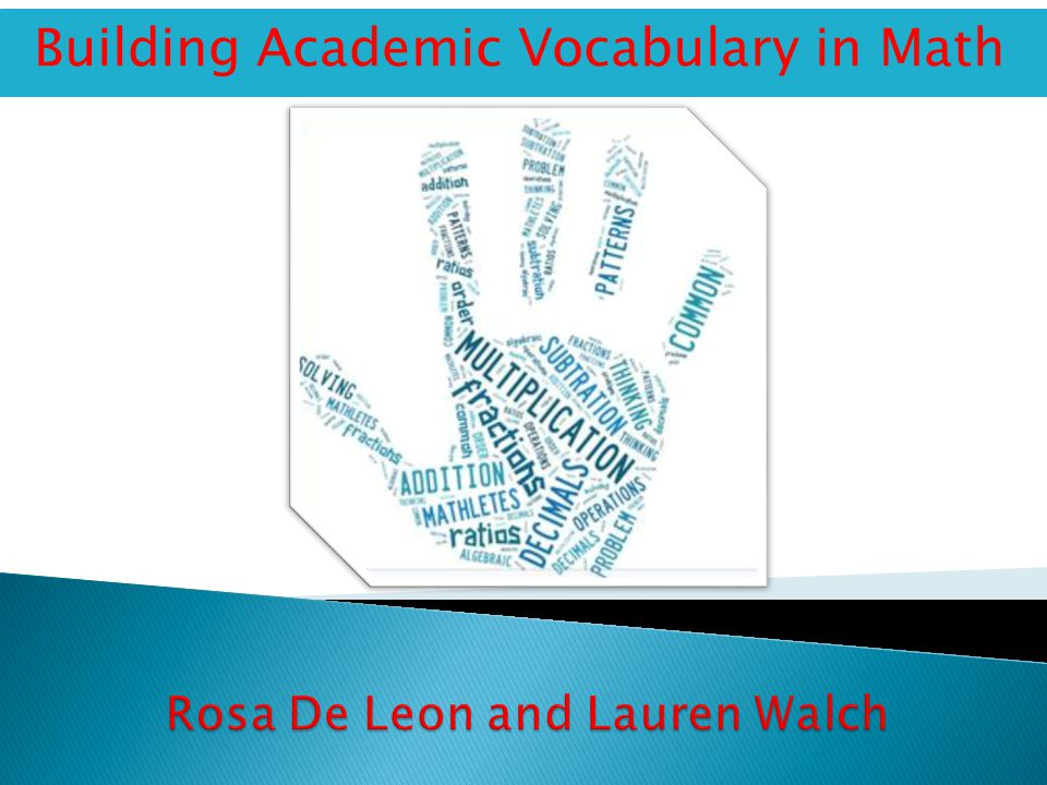 Building Academic Vocabulary in Math
