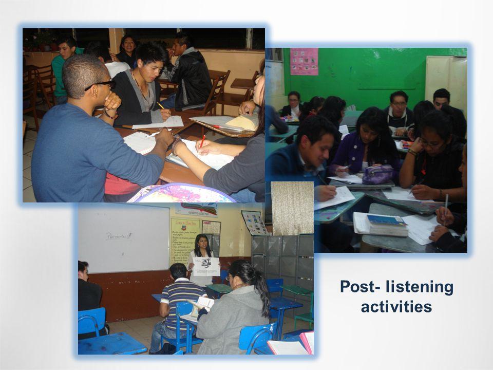 Post- listening activities